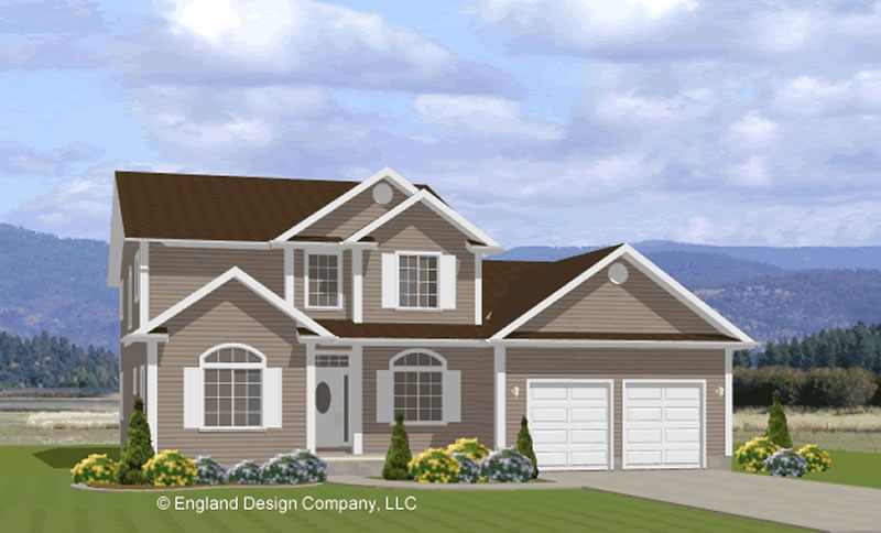Farmhouse, Country Two Story House Plan