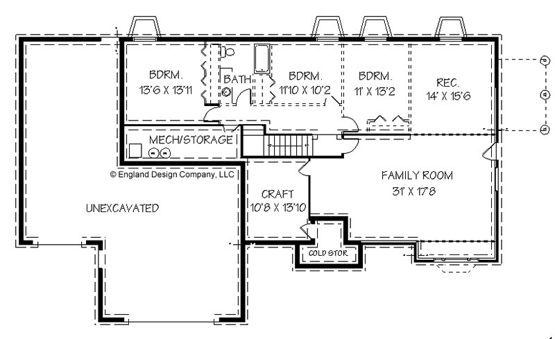 House plans with basements walkout daylight foundations 4 Ranch basement floor plans