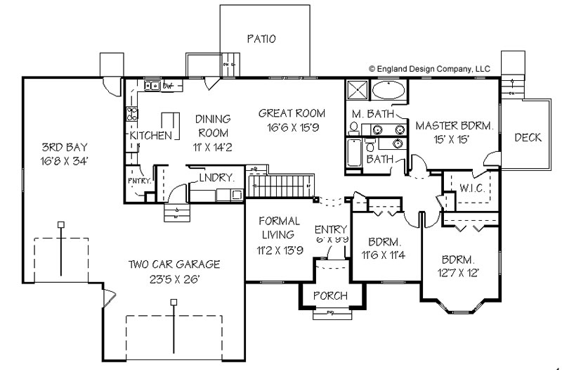 Texas ranch home plans floor plans for Texas ranch house floor plans