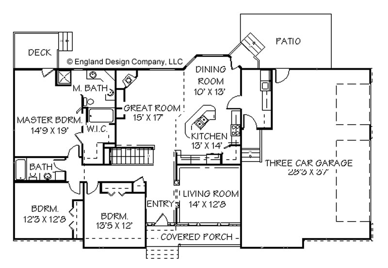 Ranch House Plans At Dream Home Source Ranch Style Home Plans