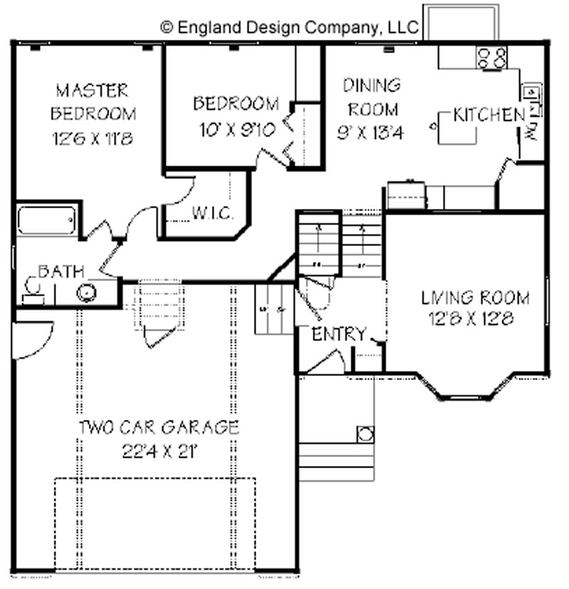 Free home plans split level cottage style house plans Types of split level homes