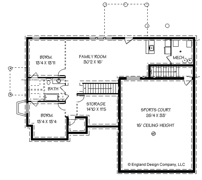 House plans with basketball courts inside england house for Floor plans garage under house