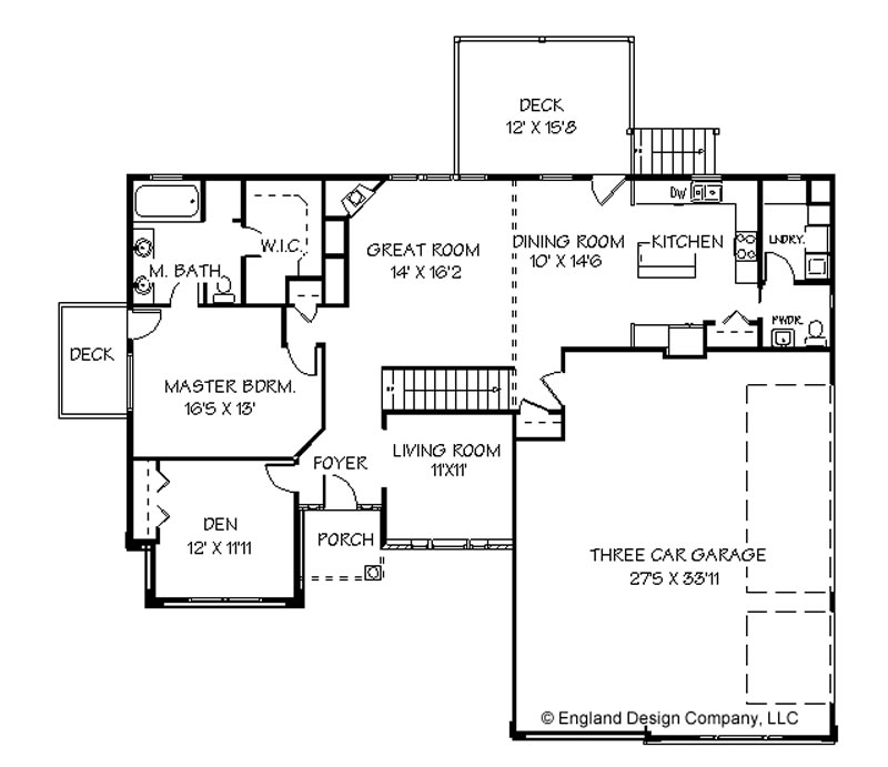 House plans bluprints home plans garage plans and for Single level home plans