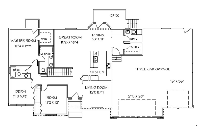 Rambler house plans with walkout basement for Rambler house plans with basement