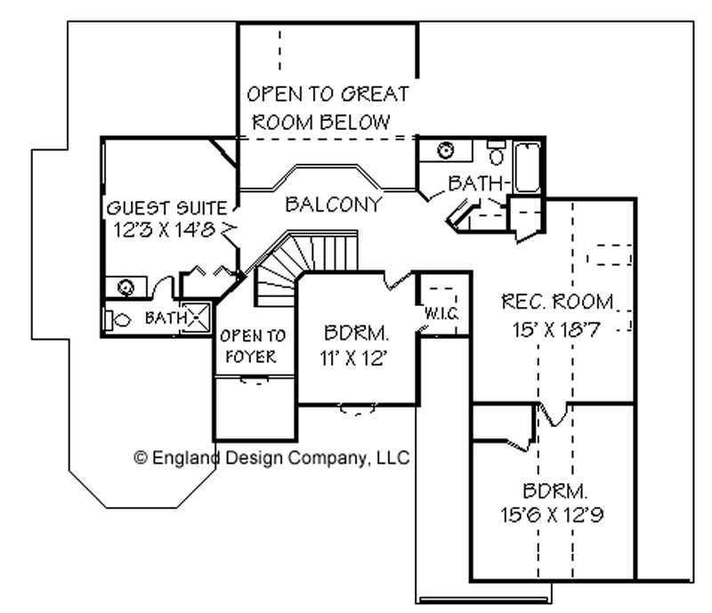 2 story house floor plans. Upper Level Floor Plan
